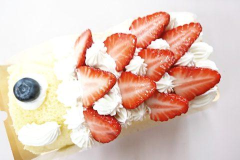 「鯉のぼりロールケーキ」できました(*^^*)
