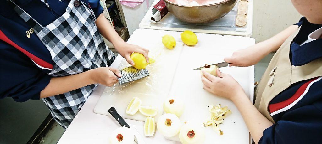 紅玉りんごのコンフィチュール作り