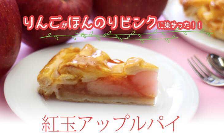 りんごがほんのりピンクに染まった!!紅玉アップルパイ