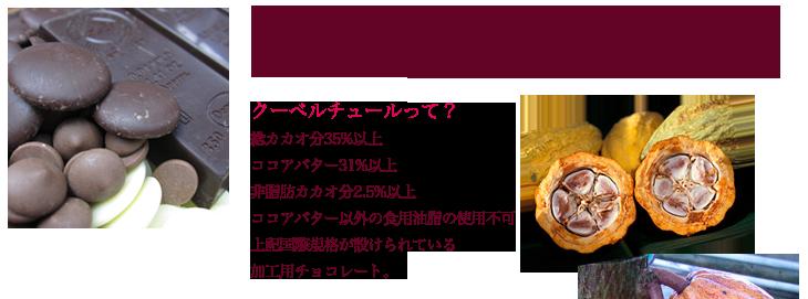 素材としてのチョコレートは、国内外問わずたくさんのブランドがあります。ここ数年日本でも色々輸入されるクーベルチュールチョコレートの種類が増えてきました。